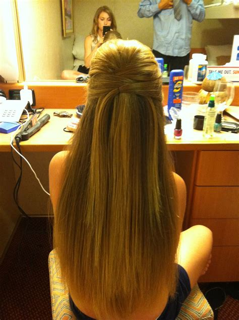 homecoming hairstyles for long straight hair formal hair straight with a gorgeous half up do