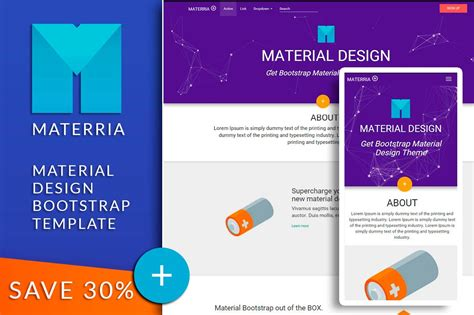 bootstrap themes material design material design bootstrap materria bootstrap themes on