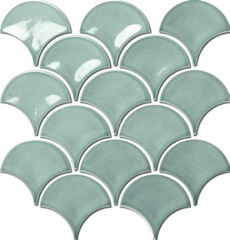 porcelain mosaic fish scale bathroom amp kitchen tiles in