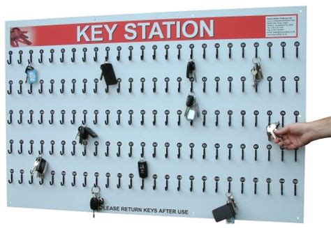 key storage stations and mobile carrying key boards