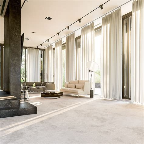 Curtains From Ceiling To Floor Decor 3 Interior Concepts With Floor To Ceiling Windows