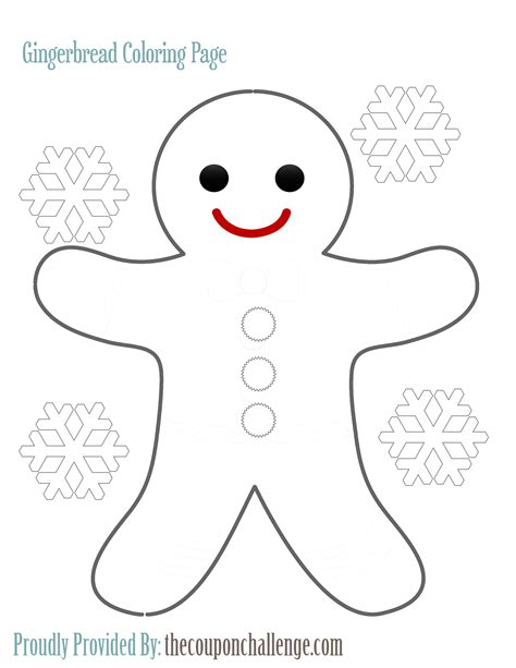 gingerbread man printable pdf gingerbread man coloring page
