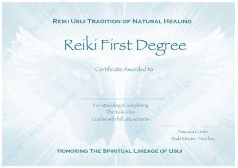 complete set reiki certificate templates