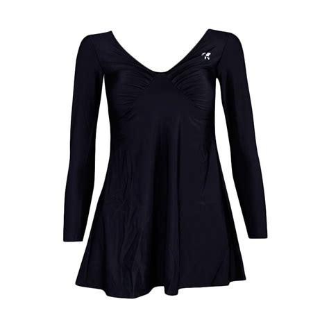 Baju Renang Panjang Untuk Wanita jual lasona swj c1286 l4 baju renang rok wanita tangan panjang hitam harga kualitas