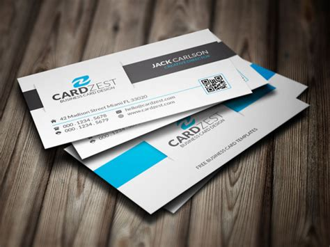 awesome business cards templates awesome clean corporate business card template