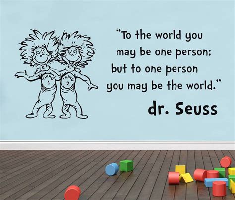 dr suess wall stickers dr seuss thing 1 2 inspirational quote decal wall sticker words decor sq61 ebay