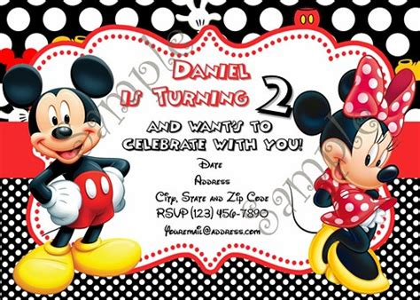 mickey and minnie mouse birthday cards mickey mouse and minnie birthday invitation free thank