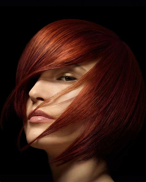 wella hairstyles a medium red hairstyle from the wella collection no 22579