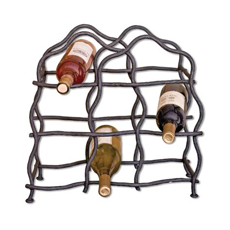wrought iron south fork 8 bottle wine rack by mathews co