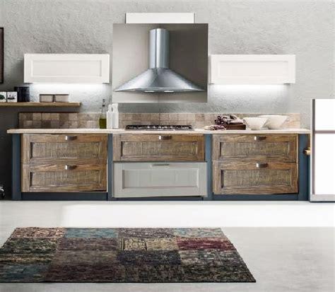 Cucine Industrial Vintage cucina lineare vintage industrial in offerta in legno