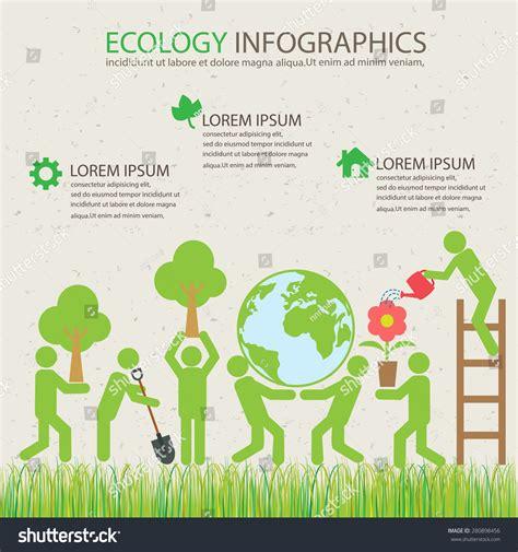 plant layout elements ecology green infographics background elements plant stock