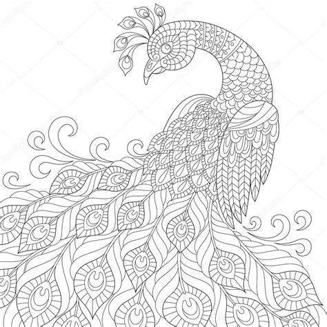 anti stress coloring book hardcover decorative peacock antistress coloring page stock