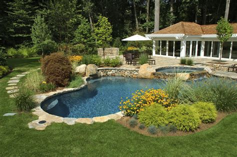 backyard with pool landscaping ideas cape cod landscaping contractors cape cod homeowners