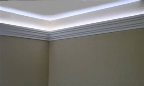 Wardah Lightening Foam Lightning Limited install led rope and indirect lighting in foam crown molding