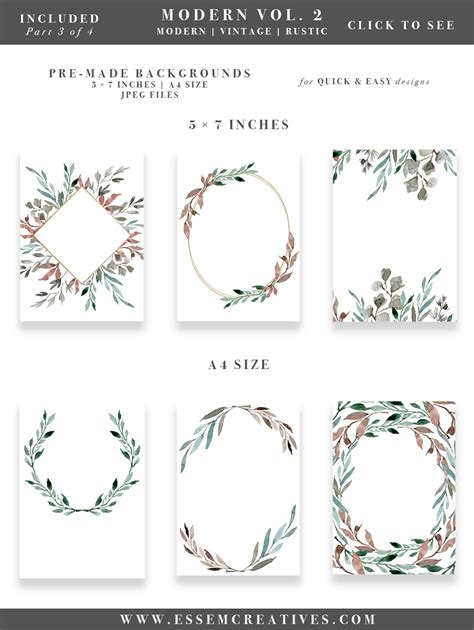 Wedding Invitation Logo Clip by Watercolor Leaves Wreaths Clipart Diy Watercolor Wedding