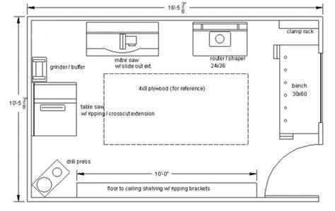 Garage Layout Plans by Garage Woodworking Layouts Garage Woodwork