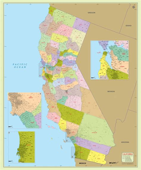 california zip code buy california zip code map with counties