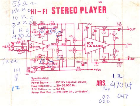 Ic La 4440 Integrated Circuit La4440 op using ic m5152l and la4440 electronic circuit diagram and layout