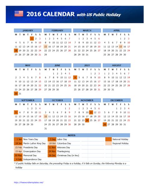 printable calendar usa 2016 january 2016 calendar with holidays usa foto bugil 2017