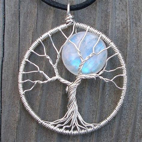 make a jewelry tree moon tree sterling silver and moonstone pendant original