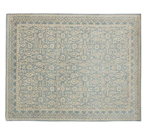 porcelain blue rug tile rug porcelain blue pottery barn