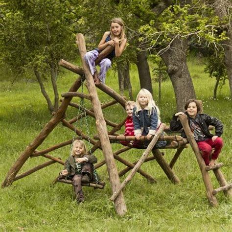 natural swing jungle gyms woodworking projects plans