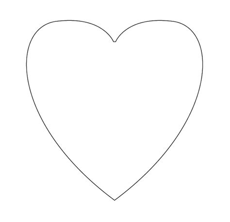 small heart template clipart best