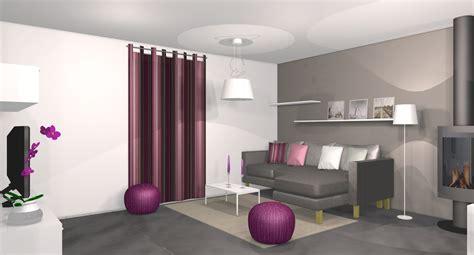 Id E D Co Salon Blanc by Decoration Salon Noir Blanc Fushia