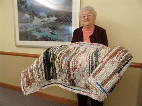 bethlehem woods residents weave plastic bags into mats for