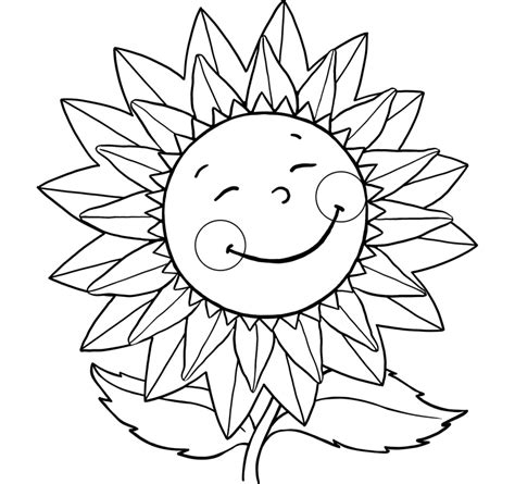 coloring flowers for kids az coloring pages
