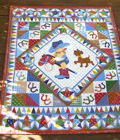Quilt For Boy by Cowboy Quilt Baby Boy Quilt Vintage Baby Quilt By