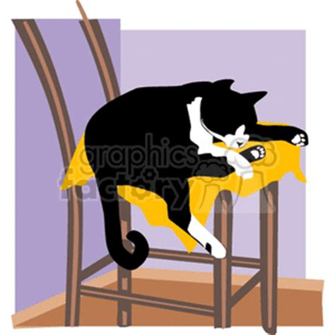 cat on chair drawing cat clip photos vector clipart royalty free images 2