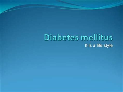 diabetes mellitus authorstream