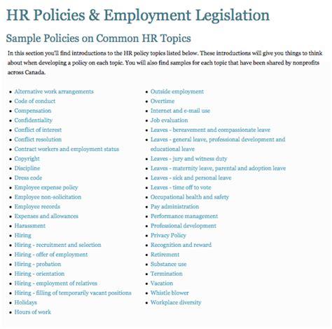 hr policy template free artbridges