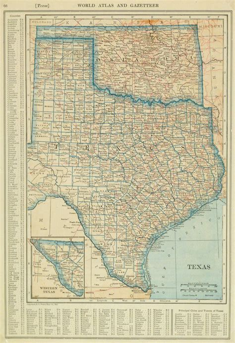 oklahoma texas map texas oklahoma map 1921 original antique maps prints