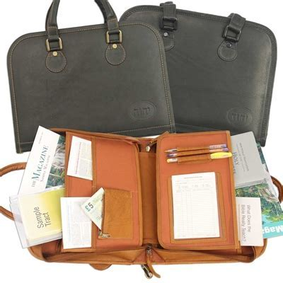 Leather Portfolio Case   Attache For Jehovah's Witness