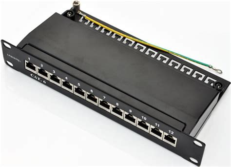 12 port cat6 patch panel soho 10 cat 6 12port patch panel shielded with cable