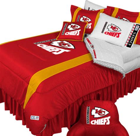 kansas city royals bedding nfl kansas city chiefs football queen full bed comforter