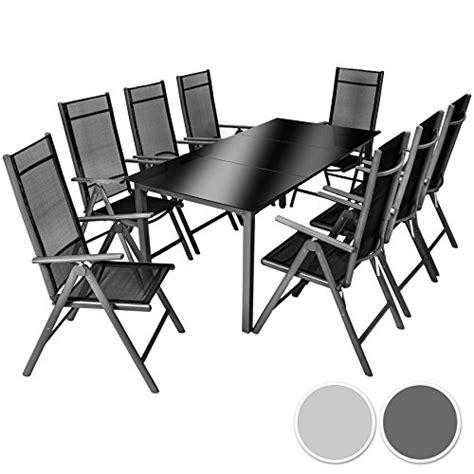 8 sitz esszimmertisch tectake aluminium sitzgarnitur 8 1 sitzgruppe gartenm 246 bel
