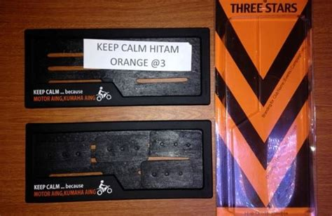 Obral Cover Plat Nomor Karet cover plat nomer three 3stars nggak mudah pecah bisa buat promosi juga gilamotor
