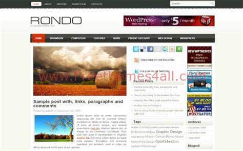 themes wordpress red grunge red silver jquery free wordpress theme download