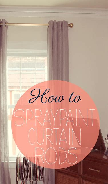 how to spray paint curtain rods 40 diy spray paint projects that restore old items