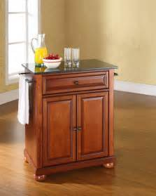 Portable Kitchen Islands by Crosley Furniture Alexandria Solid Black Granite Top