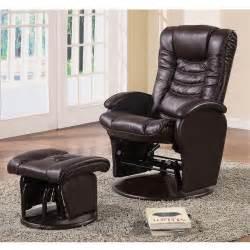 deluxe baby nursing glider rocker recliner lounger brown