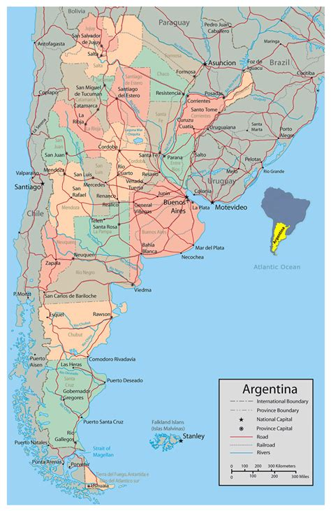 argentina political map detailed political and administrative map of argentina