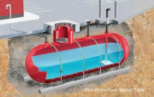 As a dual purpose tank such as for potable water and fire protection