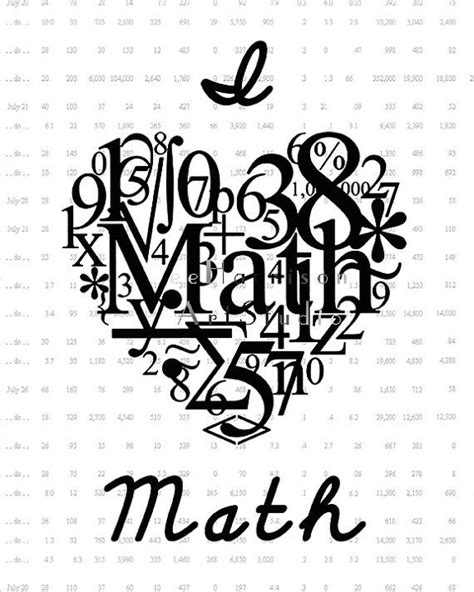 math doodle ideas i math geekery print typography number