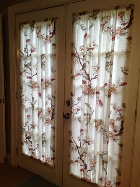 curtain for door window french door curtains made from a 19 00 target shower