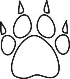 paw print clipart image dog paw print with claws outline