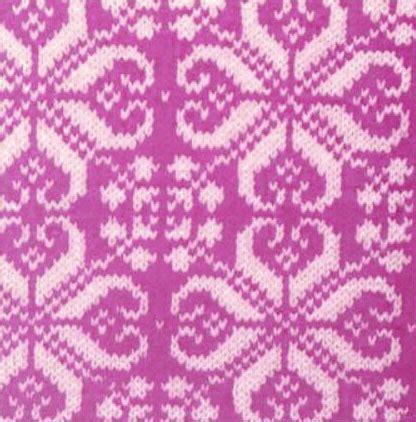 Pink Nordic Pattern   pink nordic star knitting bee